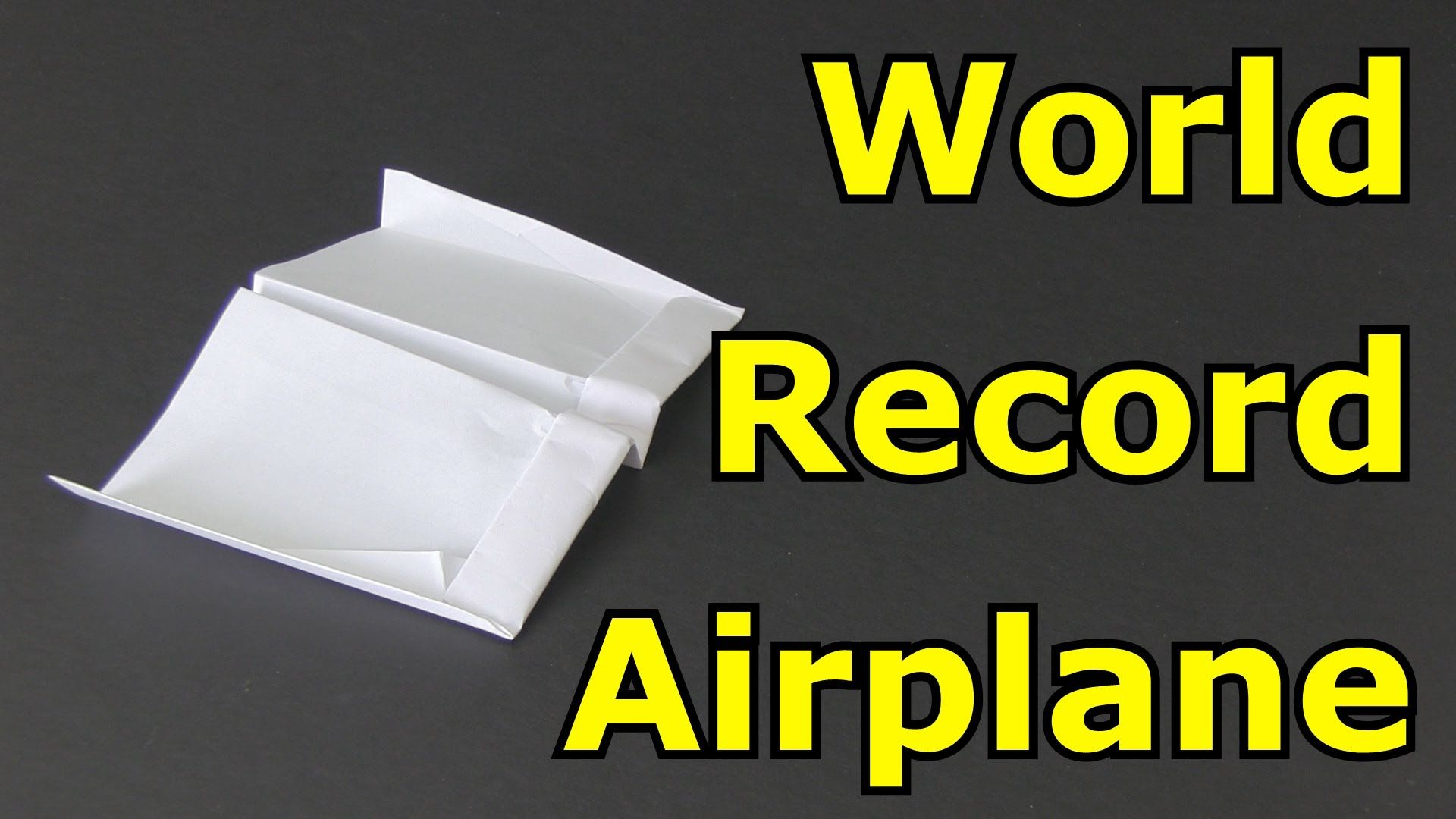 How To Make The Longest Flying Paper Airplane In World With