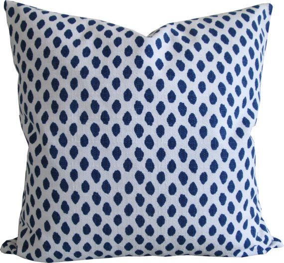 Designer Throw Pillows designer decorative pillow cover-navy dots-lacefield-accent pillow