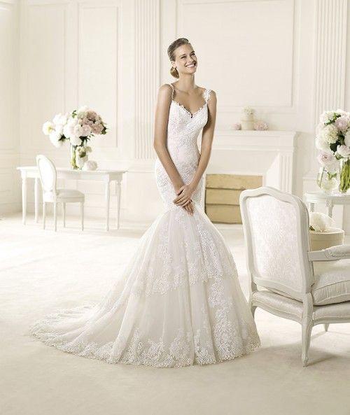 vestido de novia corte sirena modelo umana con falda voluminosa y