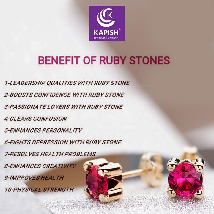 10 Benefits Of Ruby Stone Kapishjewels Ruby Rubybenefits Jewellery Jewelleryinformation Jewelle Ruby Stone Crystal Healing Stones Crystals And Gemstones