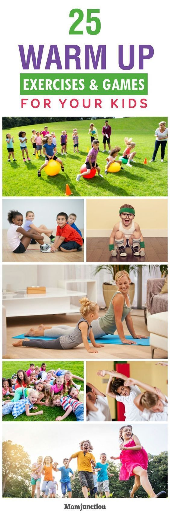 25 Fun Warm Up Exercises And Games For Kids #kidsnutrition