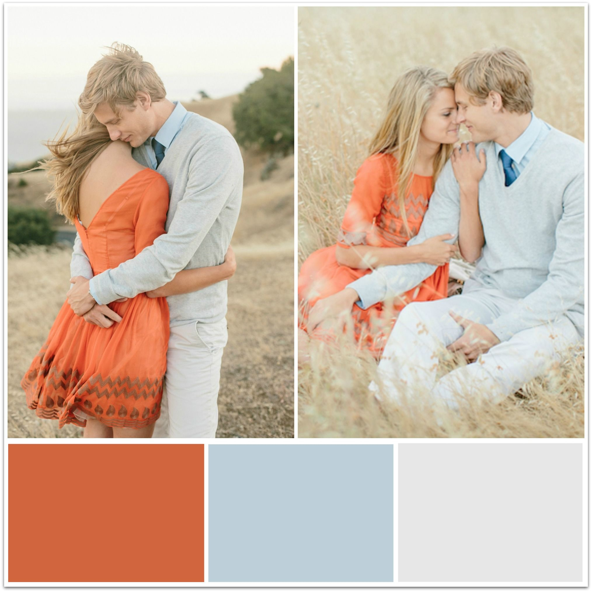 what to wear in fall engagement pictures