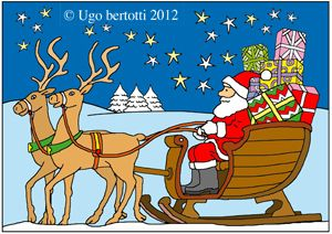 Foto Della Slitta Di Babbo Natale.Slitta Di Babbo Natale Natale Da Colorare Babbo Natale Natale Slitta