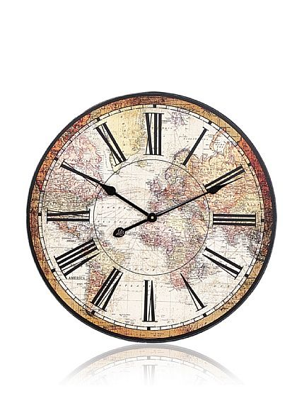 world map wall clock 22 sale 44 regular nomnomnom yes please