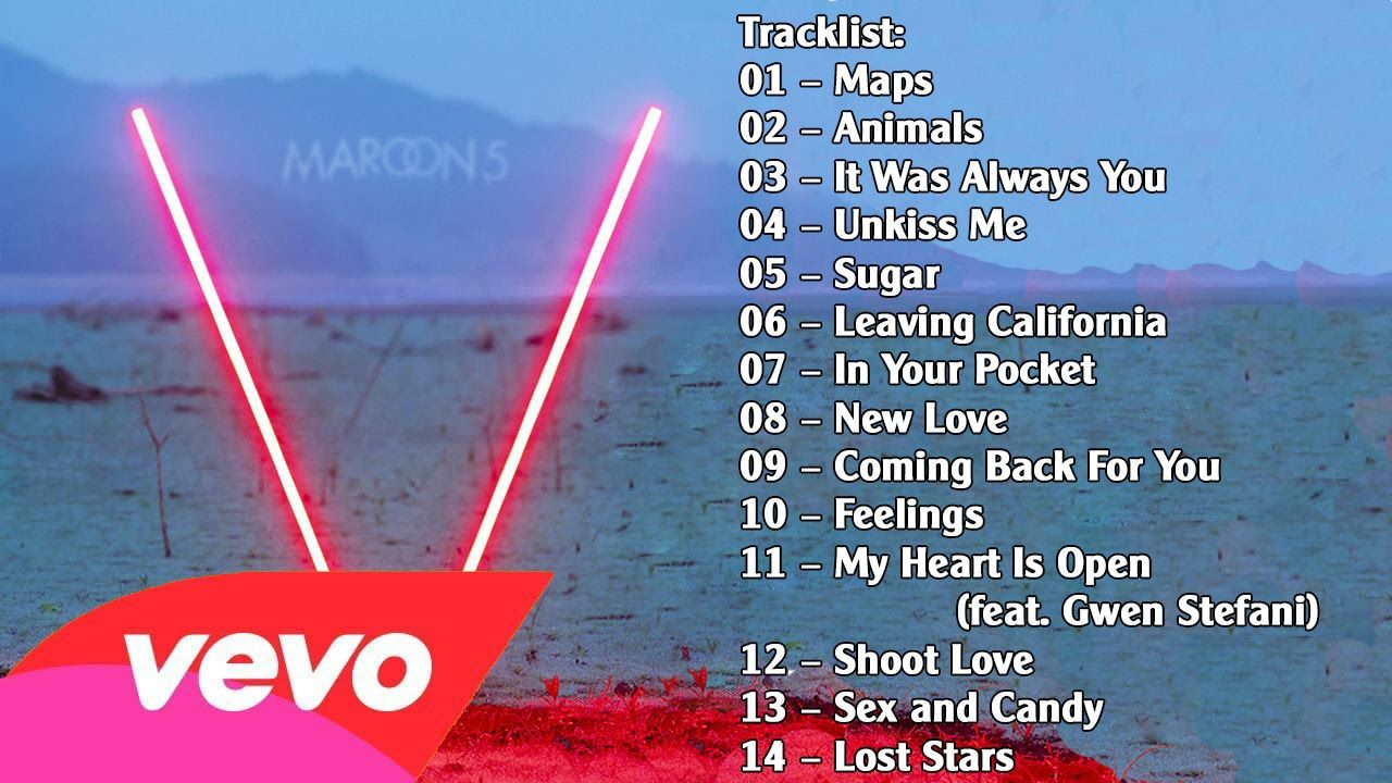 Maroon 5 - V album (2014) Full Album + MP3 download | Harry Potter