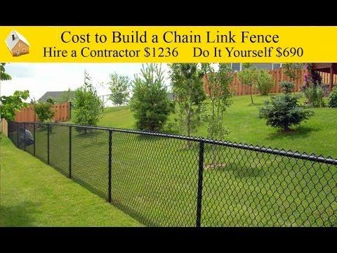 Cost To Build A Chain Link Fence Yard Fencing Genius Chain Link Fence Cost Black Chain Link Fence Chain Link Fence Installation