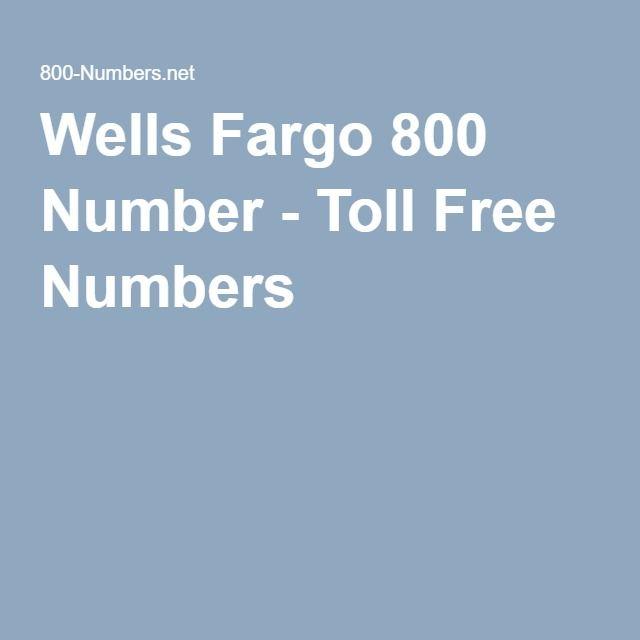 Wells Fargo 800 Number
