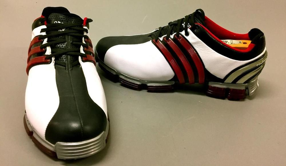 new concept b5292 15ccf Adidas Men s Tour 360 3.0 Golf Shoe-Running White Black Victory Red~SZ 9.5