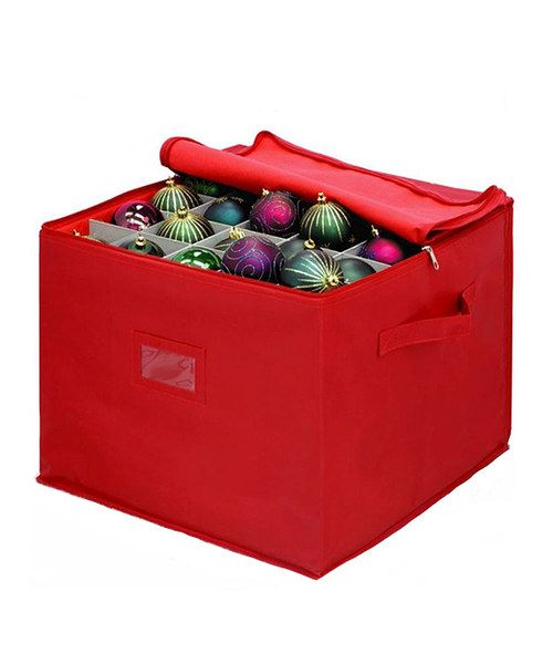 Take a look at this Red Ornament Storage Box on zulily today