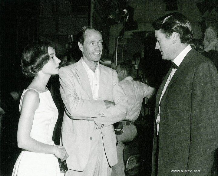 Audrey Hepburn, Mel Ferrer, and Gregory Peck