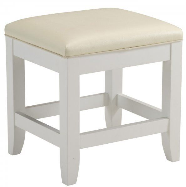 Astonishing Naples Vanity Bench White 19H X 17W X 15D Products Short Links Chair Design For Home Short Linksinfo