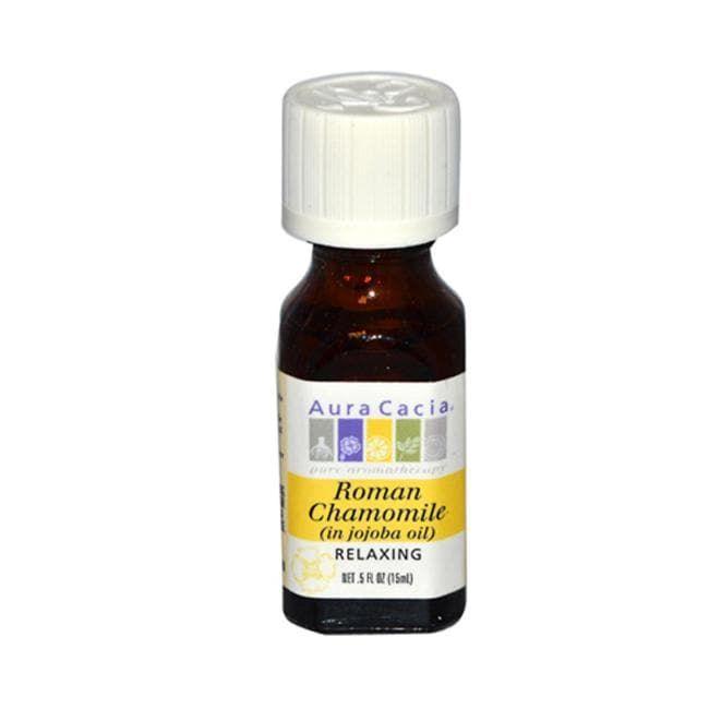 Aura Cacia Roman Chamomile (in jojoba oil) | 0.5 fl oz Liquid | Essential Oils