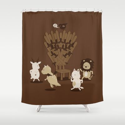 Game Of Musical Thrones Shower Curtain By Wawawiwa Design 68 00 Game Of Thrones Musical Game Of Thrones Fans Game Of Thrones Art
