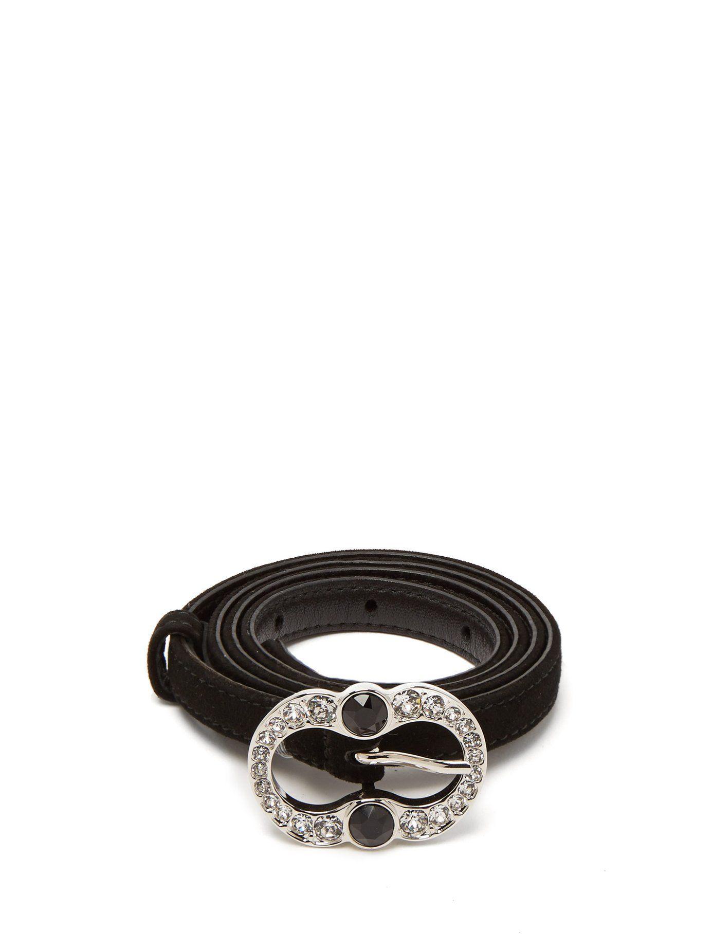 583c6fcc043903 Crystal-embellished suede belt | Prada | MATCHESFASHION.COM | Cintos ...