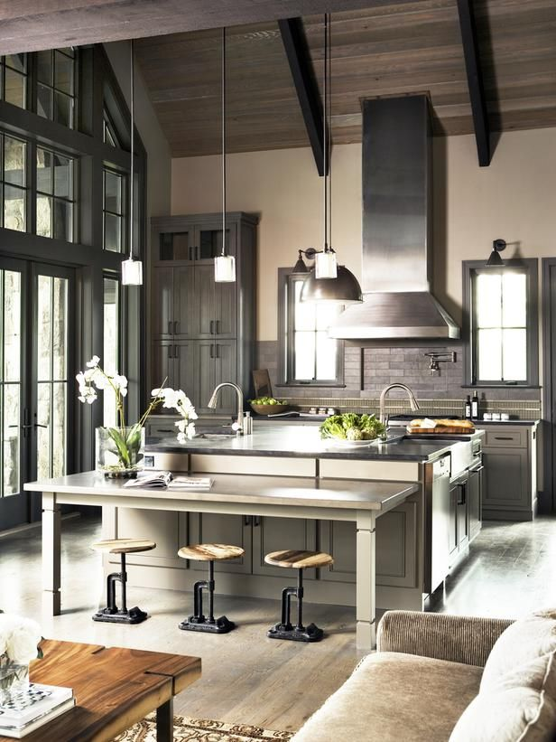 sick sick sick! Gourmet Kitchens : Kitchen Remodeling : HGTV Remodels | Looks like Christian Grey's kitchen to me.