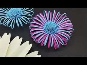 Fluffy Paper Flower Centers Making Tutorial | DIY Paper Flowers #paperflowertutorial