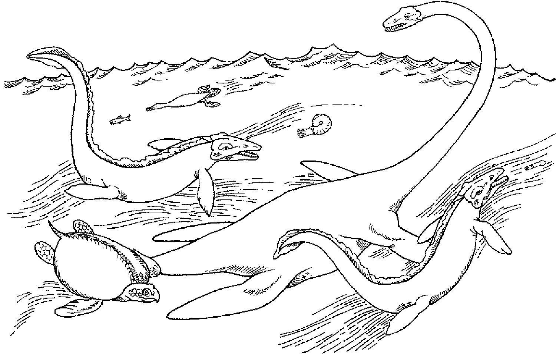 Meeressaurier Jpg 1500 955 Dinosaurier Ausmalbilder Malvorlagen