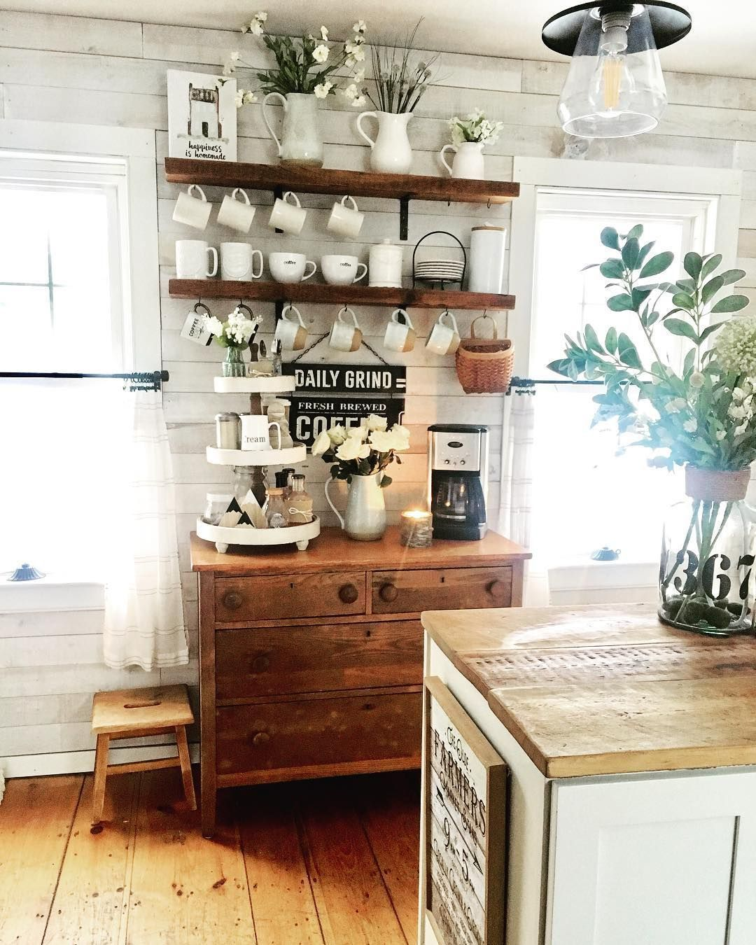 Glory On Instagram I Found This Old Dresser On Craigslist And Paid 20 For It We Changed In 2020 Coffee Bars In Kitchen Coffee Bar Home Kitchen Bar