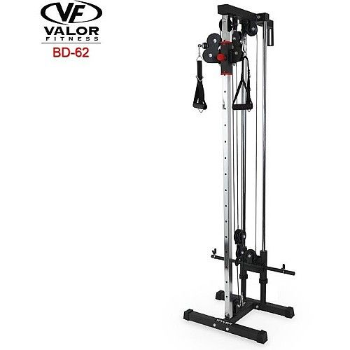 Valor Fitness Wall Mounted Cable Station Silver Cable Workout No Equipment Workout At Home Gym