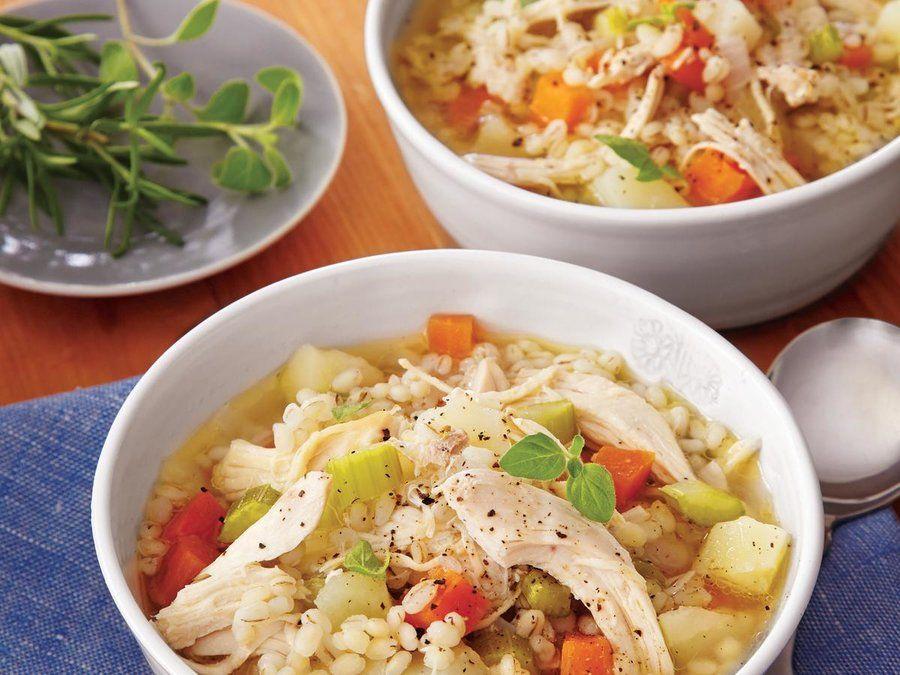 ChickenBarley Soup Recipe Chicken barley soup, Soup