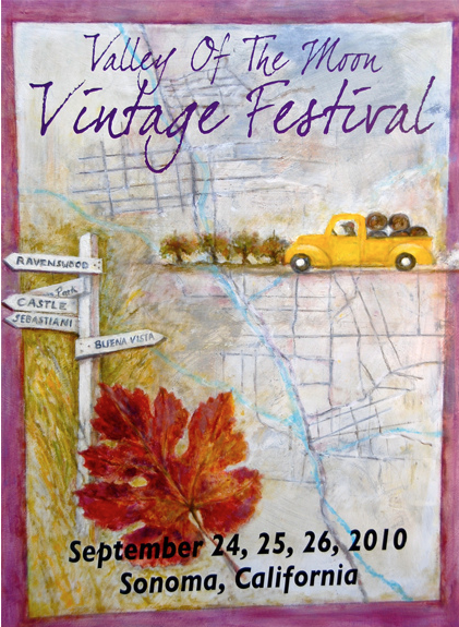2010 Valley of the Moon Vintage Festival poster