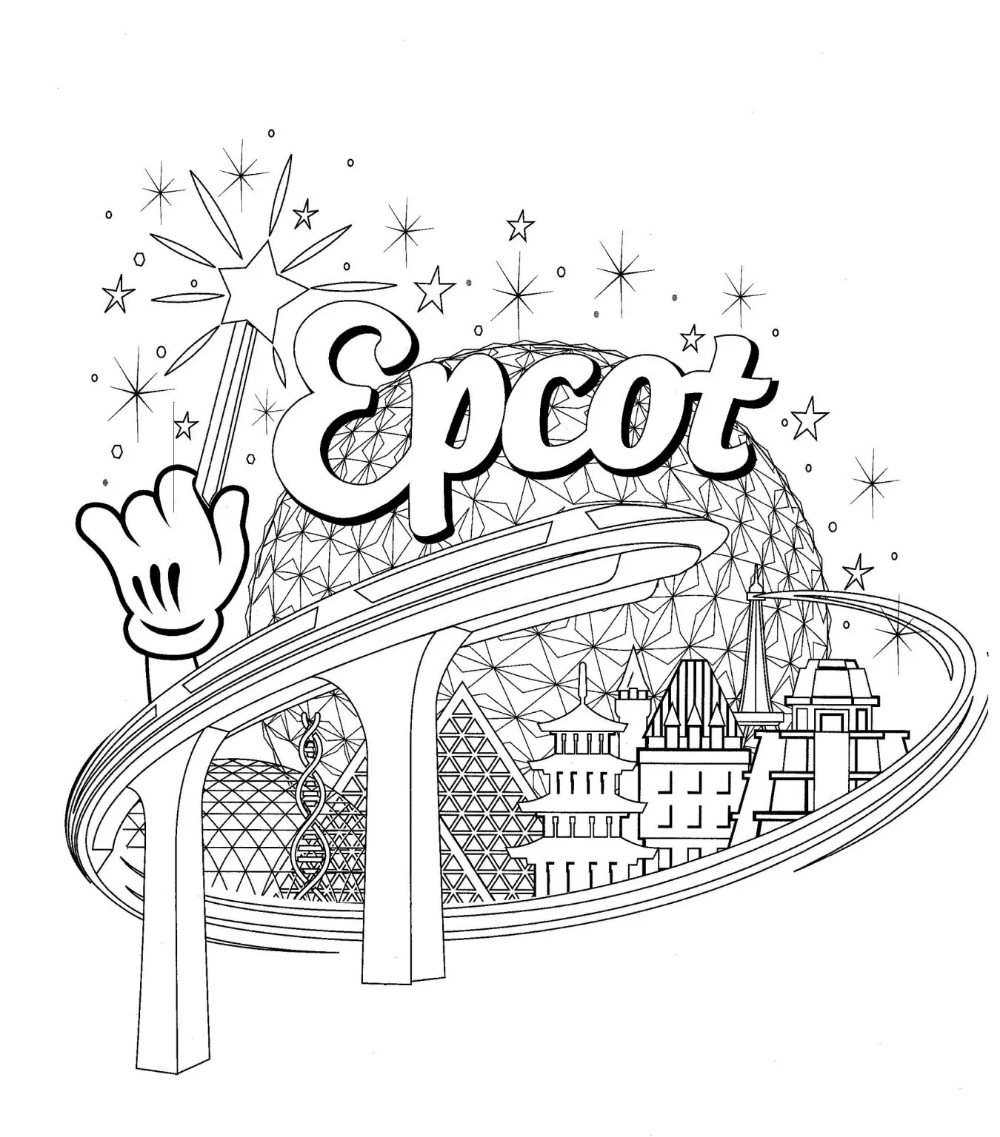 Walt Disney World Coloring Pages The Disney Nerds Podcast In 2020 Disney Activities Disney Coloring Pages Disney Colors