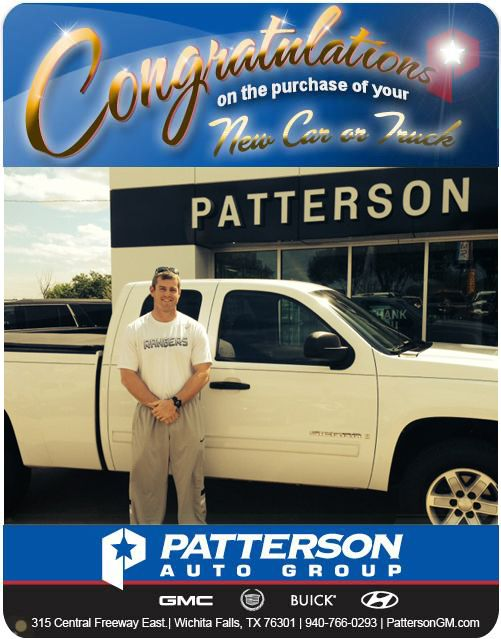 Congratulations to Jeremy Weeks on his new 2009 Gmc White Z-71 Extended Cab 4X4! - From Steve Garner at Patterson Auto Center