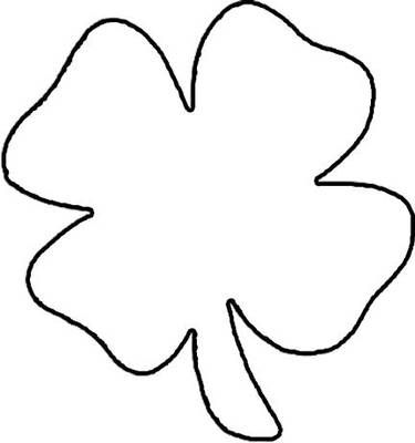 Print This Free Four Leaf Clover Coloring Page Leaf Coloring Page Clover Leaf Four Leaf Clover Drawing