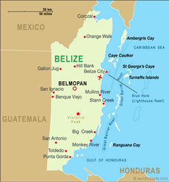 belize is a small central american country that borders guatemala and mexico while it is