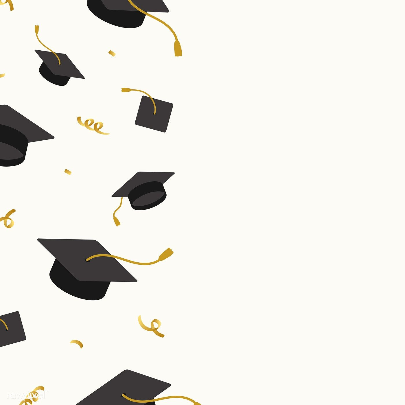Photo of Graduation background with mortar boards vector | free image by rawpixel.com / N…