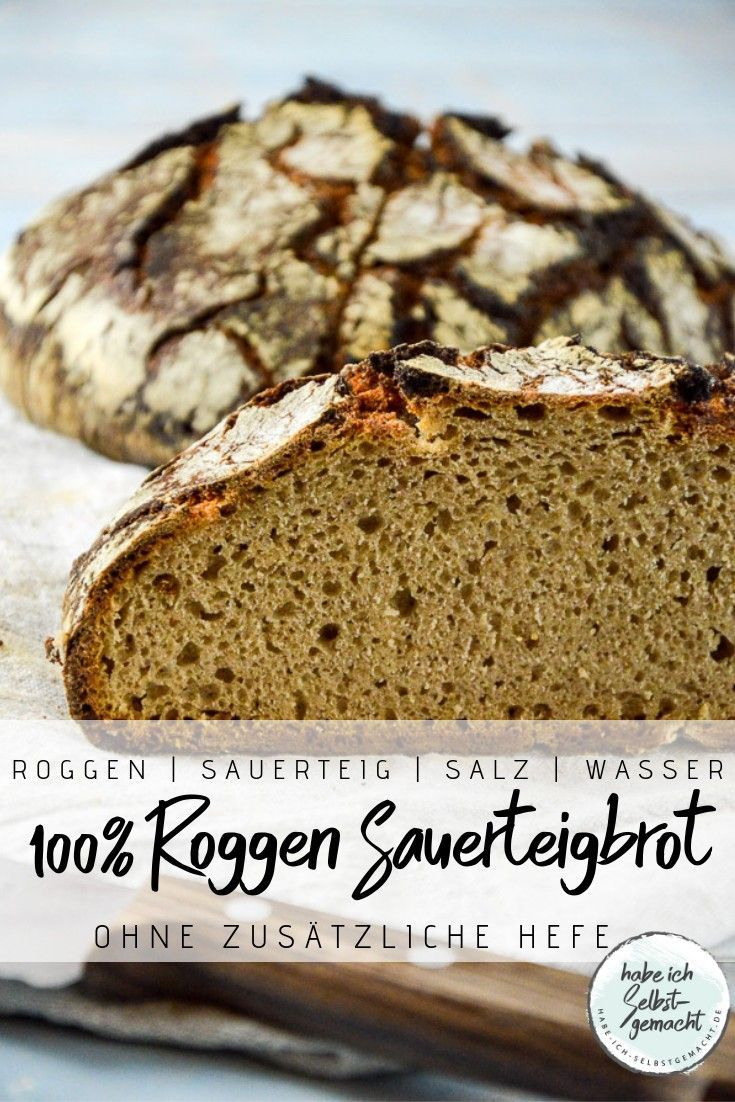 Brot #44 – Helles Roggen Sauerteigbrot –  Rezept für ein gesundes und leckere…  – Catarina Wilson