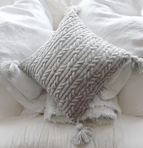 Aran Trellis Cable Cushion | Knitted cushions, Shawl ...