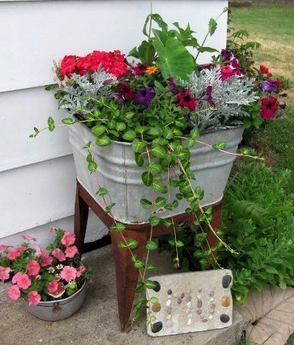 Kaycee Sterling S Colorful Tub On A Stand Glass Garden