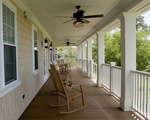 Master Plan For The Front Porch Railing And Ceiling Fans