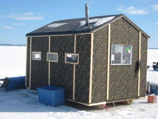 Ice shack ideas 8 x 12 very light fishing ice for Small hut plans
