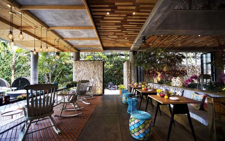 Restaurant design paradisiaque au cœur de l'Indonésie