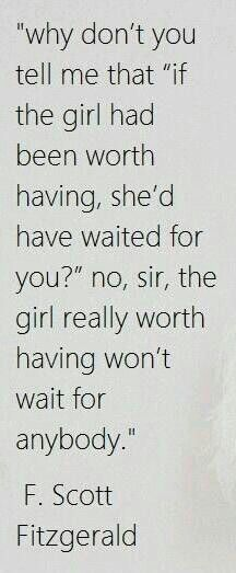 So many girls/woman sit around waiting for