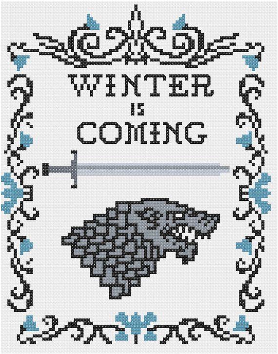 House Stark cross stitch pattern | Pinterest | Punto de cruz ...