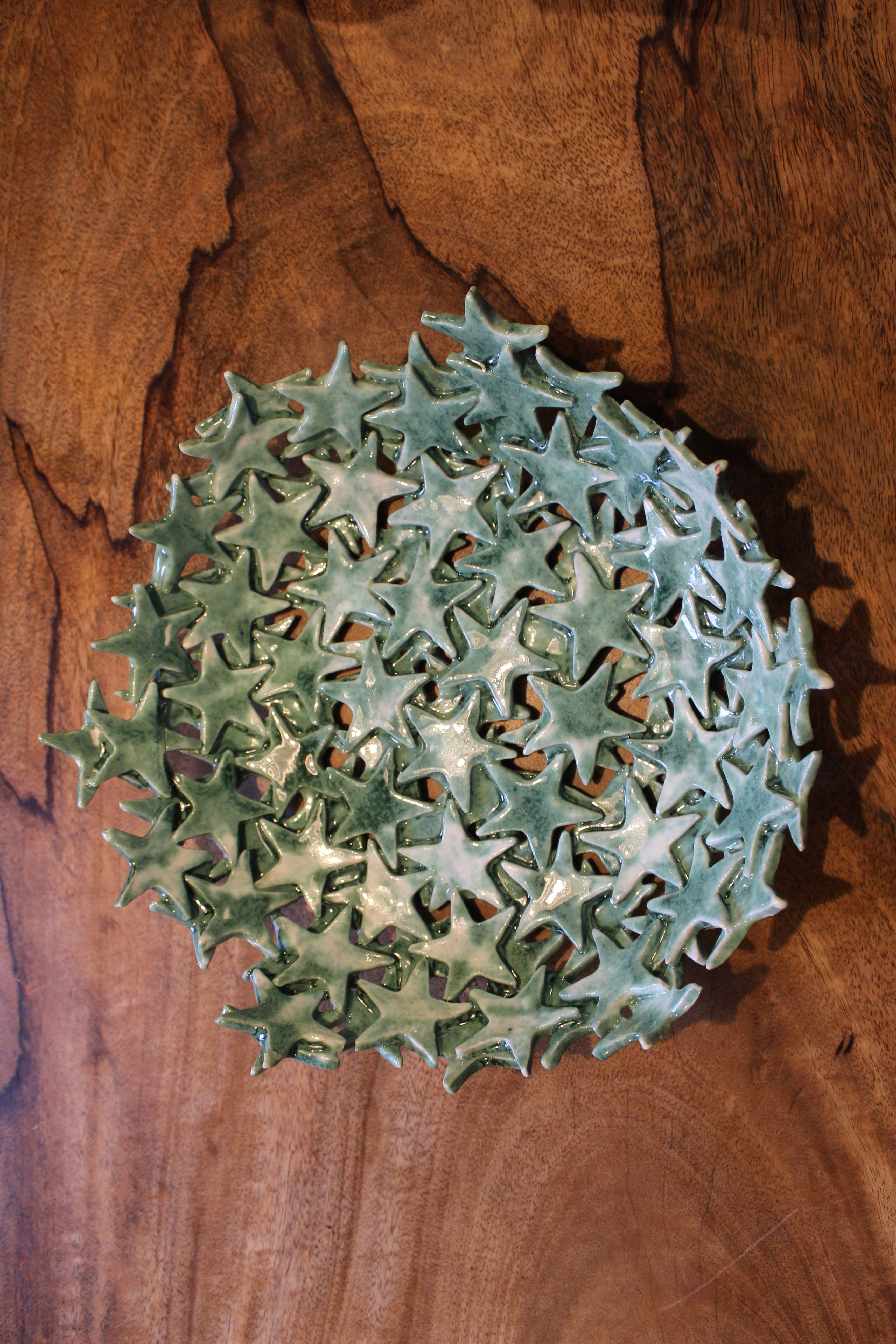 Sternenschale, Weihnachtsschale #slabpottery