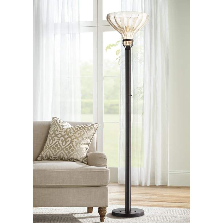 Shelby Mercury Glass Torchiere Floor Lamp 79y30 Lamps Plus In 2020 Torchiere Floor Lamp Floor Lamp Floor Lamp Styles