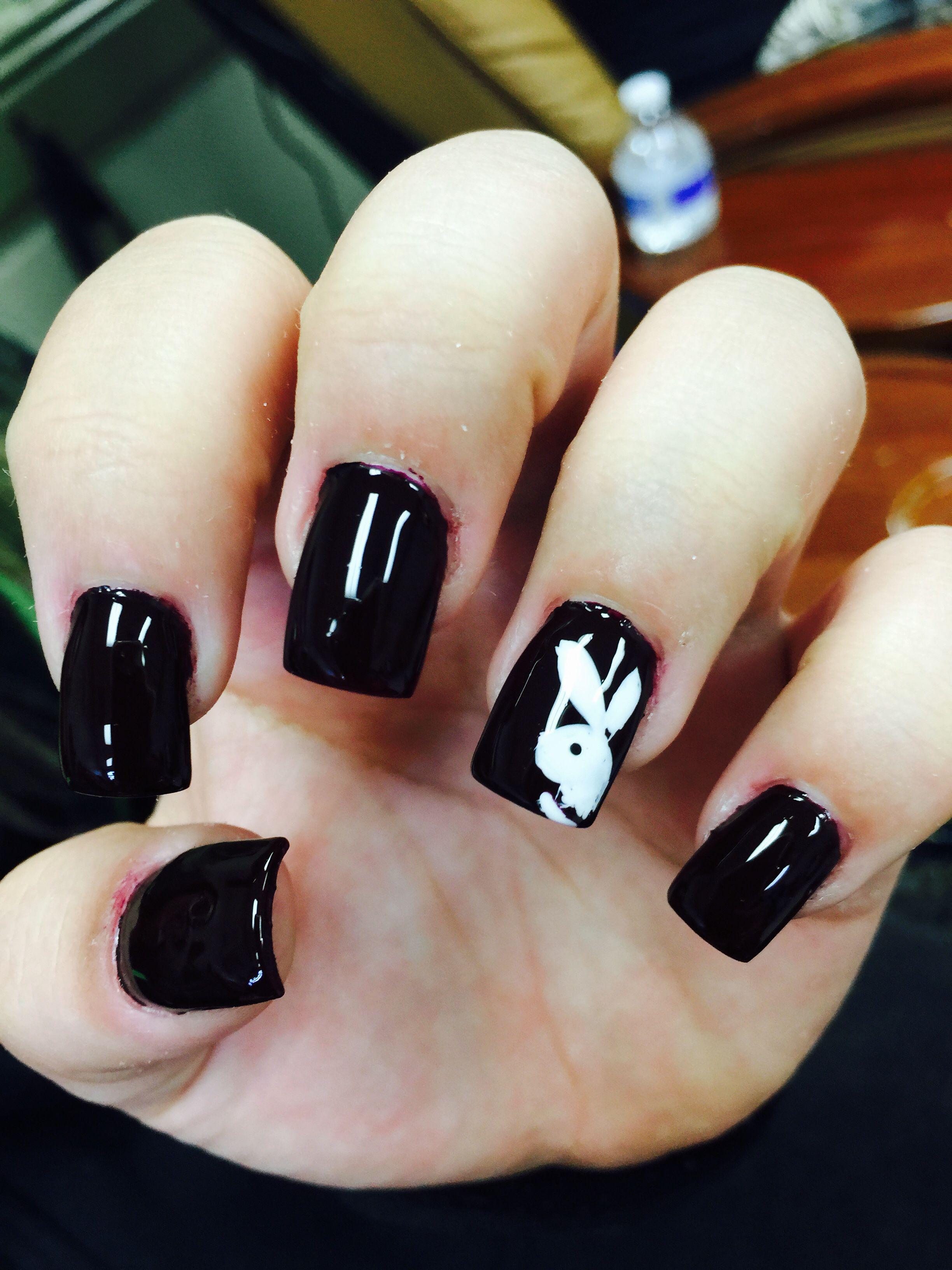 Playboy nails#cool nails#nails designs#winter dark nails | Nail Art ...