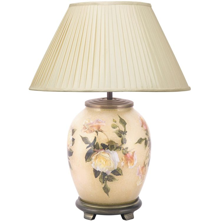Classic Rose Medium Table Lamp Base Only
