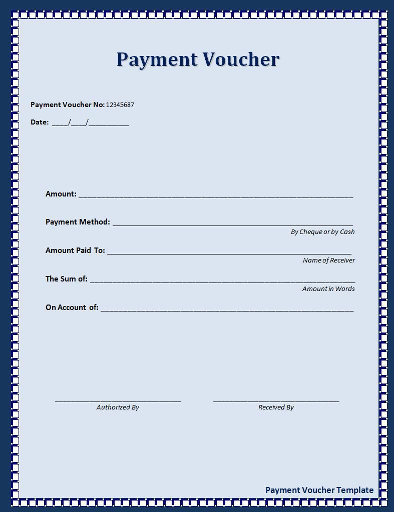 Payment Voucher Template | Sample Templates | Pinterest