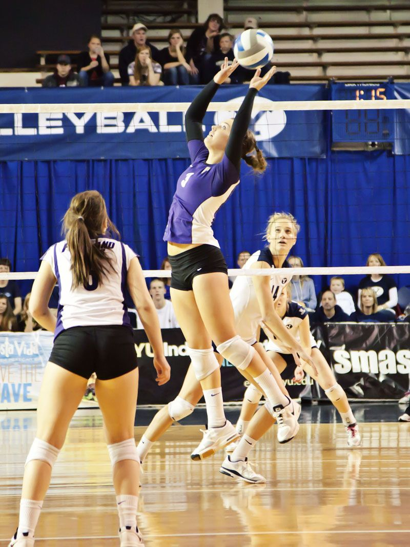 BYU Cougars Volleyball Christie Carpenter vs Weber State - hey, I know her.