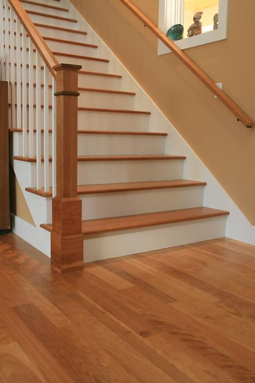 Best Staircase With Birch Wood Flooring Like The Balustrade 640 x 480