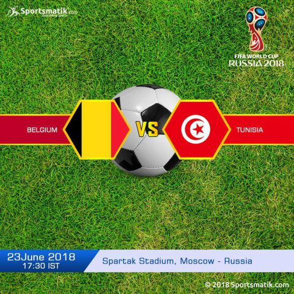 Cheer up the teams Belgium and Tunisia in the Group G