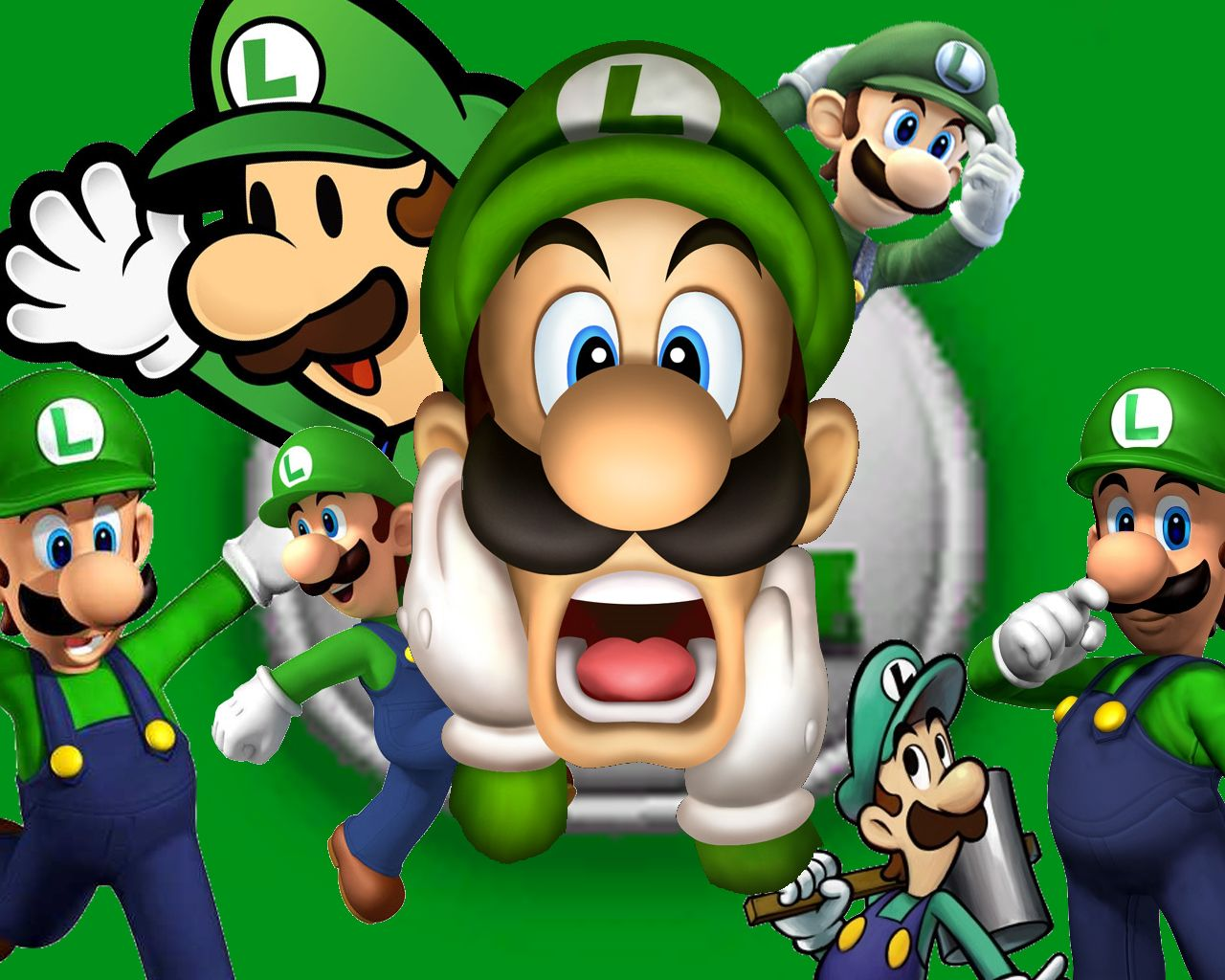 Luigi super mario bros wallpaper nintendoooooo pinterest hd wallpaper and background photos of luigi for fans of super mario bros altavistaventures Gallery