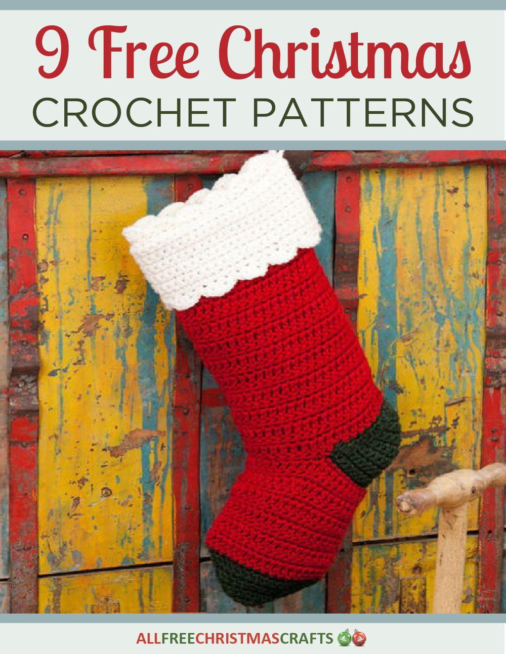 9 Free Christmas Crochet Patterns free eBook   Pinterest   Christmas ...