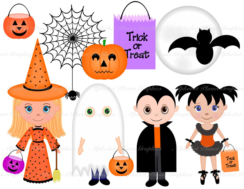 Halloween Costumes Kids Digital Clip Art Set Clipart Personal Etsy Halloween Costumes For Kids Halloween Clipart Digital Clip Art Set