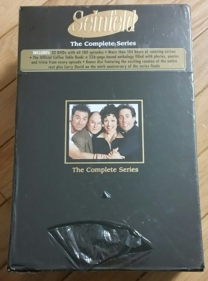 Seinfeld Complete Series 32 DVDs 180 Episodes Coffee Table Book